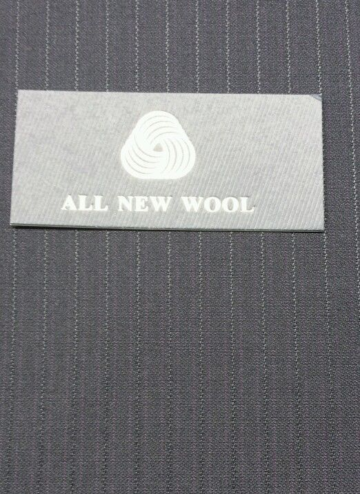 Classic 120S Italian Wool Suit fabric   Blue with Black srtipes  6.5 Yard
