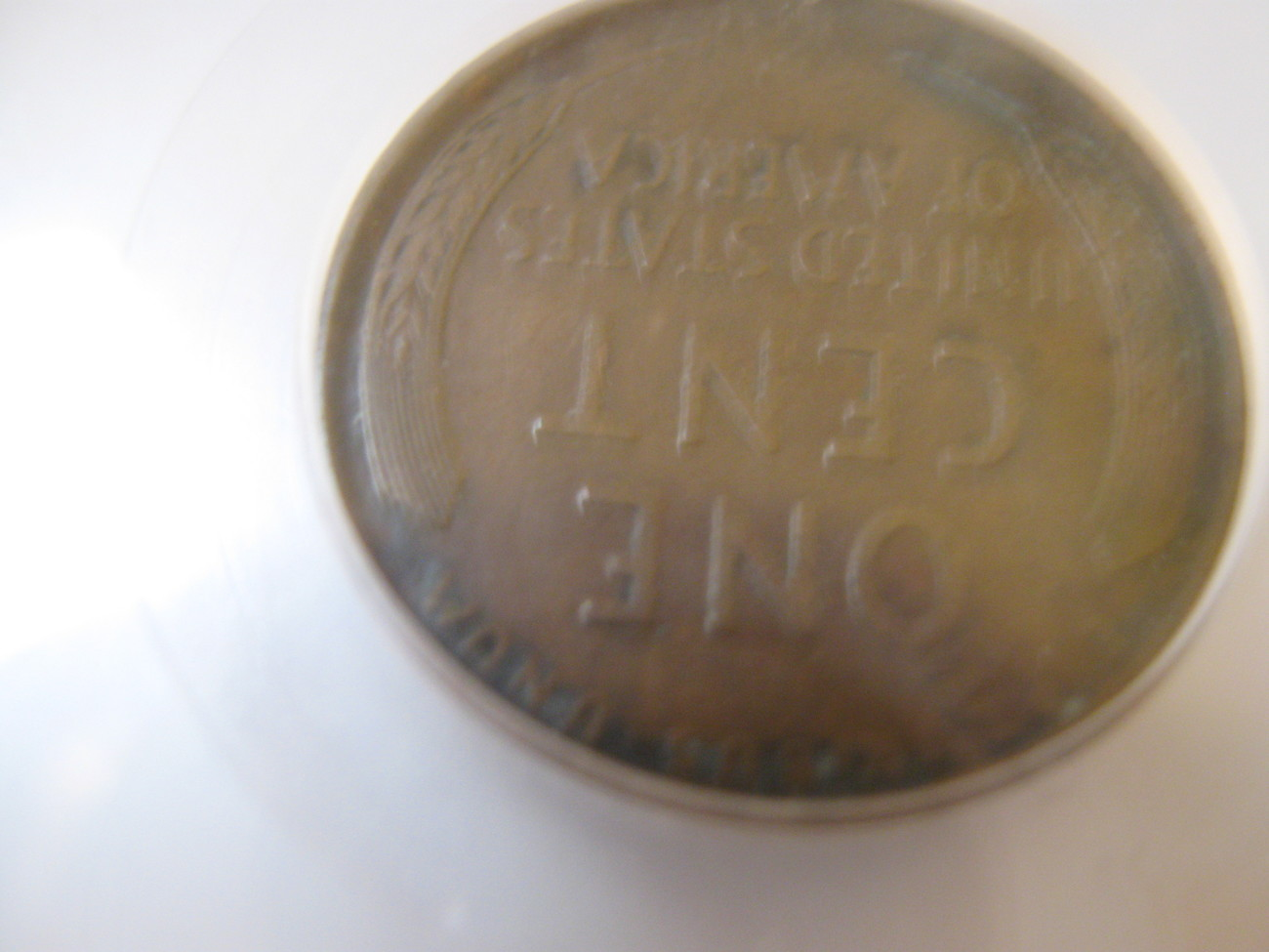 1911-D ,  Lincoln Penny , Glue residue , Scratched Obverse , SEGS , VF-20