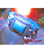 Haunted BRACELET 3x GREAT SPIRAL AMPLIFY ENERGIES MAGICK 925 TURQUOISE Cassia4  - $52.77