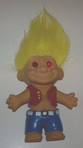 Troll Hippie Doll with Molded Painted Vest and Pants - $13.00