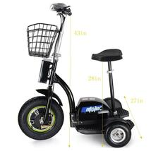 MotoTec Electric Trike 48v 500w Personal Transporter 3 Wheel Scooter up to 22MPH image 3