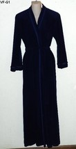 Vanity Faire Size Small Royal Blue Velour Polyester Plush Robe - ₨1,491.98 INR
