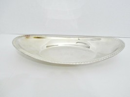Vintage FB ROGERS Oval Bread Serving Tray Silver Plated Gadroon Border - $19.55