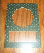 Scallop green pindot double mat opening 5x7 fra... - $1.25