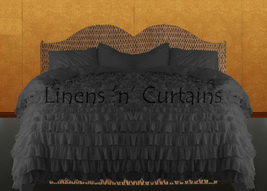 LinensnCurtains Waterfall Ruffle GRAY Bedspread Set 3pc - $169.00+