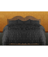 LinensnCurtains Waterfall Ruffle GRAY Bedspread Set 3pc - $169.00+