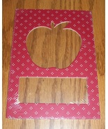 Apple red pindot double mat opening 5x7 framing mat cross stitch scrapbo... - $1.25