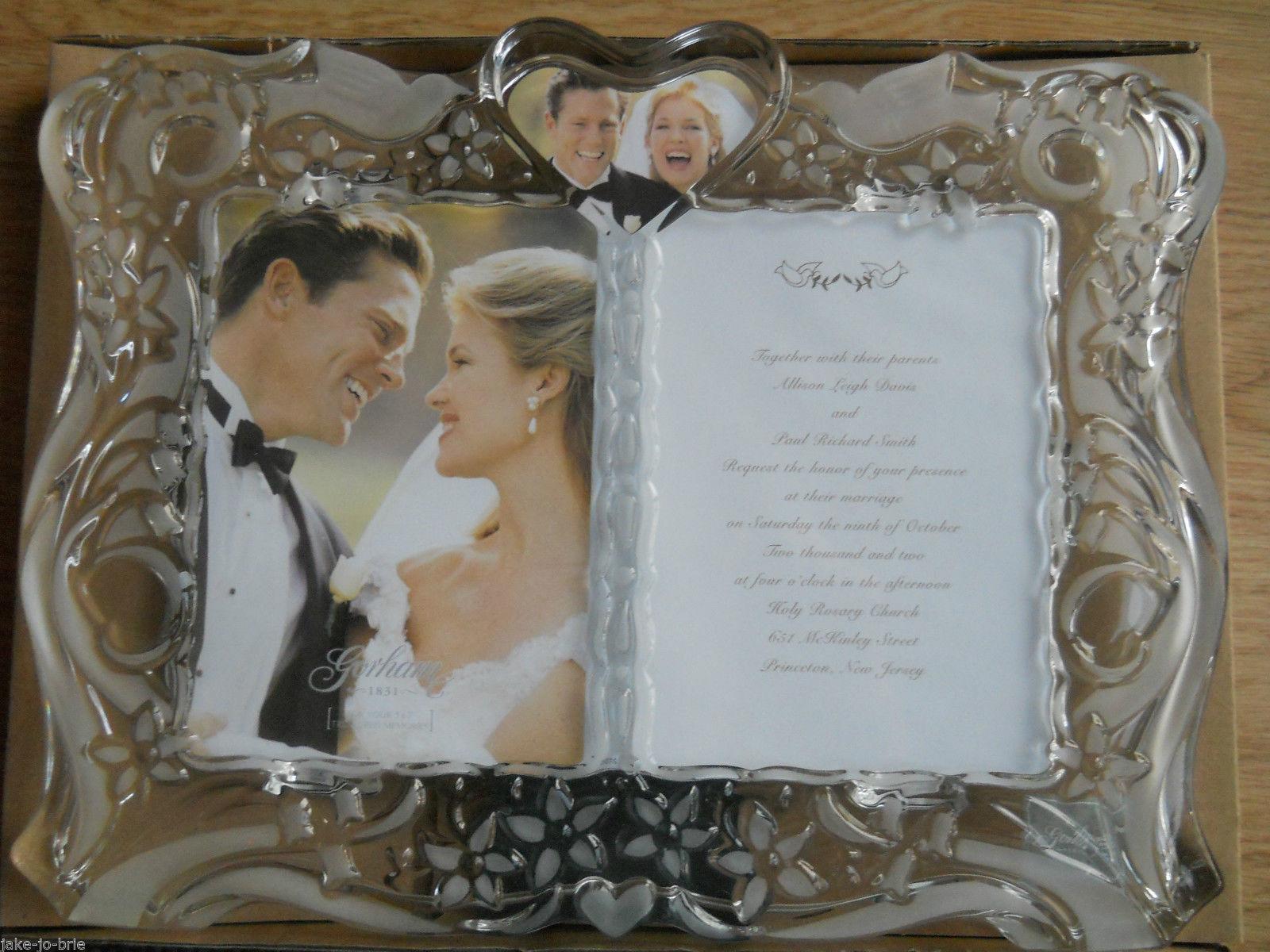 Wedding Invitation Frames: Gorham Invitation Crystal Picture Frame Wedding