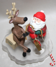 Hallmark Santa and his Reindeer Ice Fishing for fun 1995 NIB - $7.50