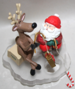 Hallmark Santa and his Reindeer Ice Fishing for fun 1995 NIB - $7.50