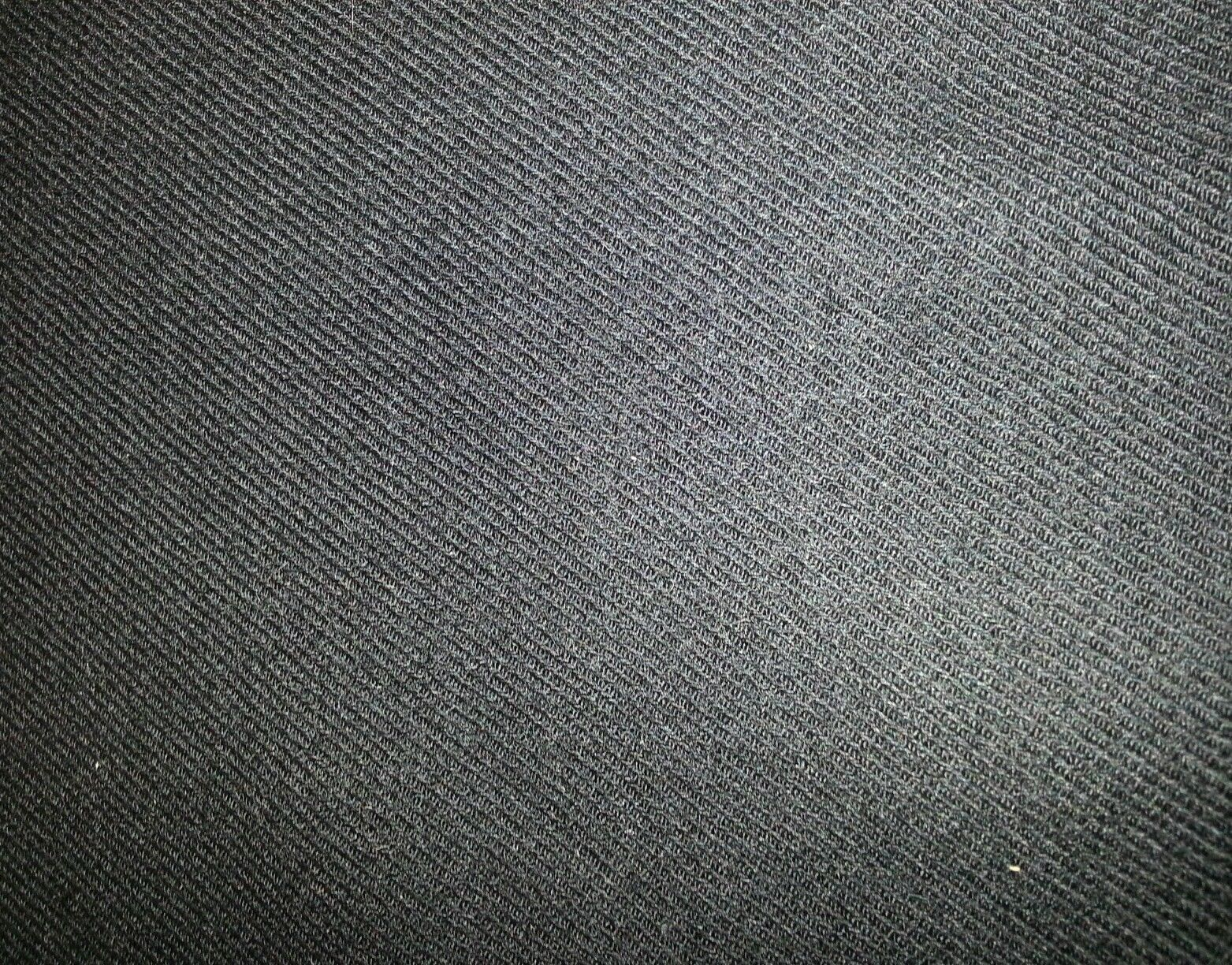 Black Twill Full Weight  Wool Suit coat Fabric 9.5 Yards MSRP 1650