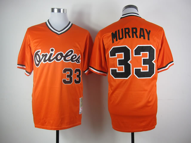 Number 33 Eddie Murray Jerseys Baltimore Orioles orange t shirts for sale  USA