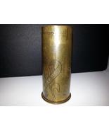 World War 1 German Imperial Navy Brass Cartidge Casing - With Trench Art - $255.00