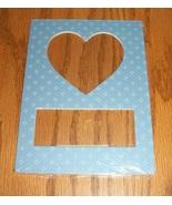 Heart blue pindot double mat opening 5x7 framin... - $1.25