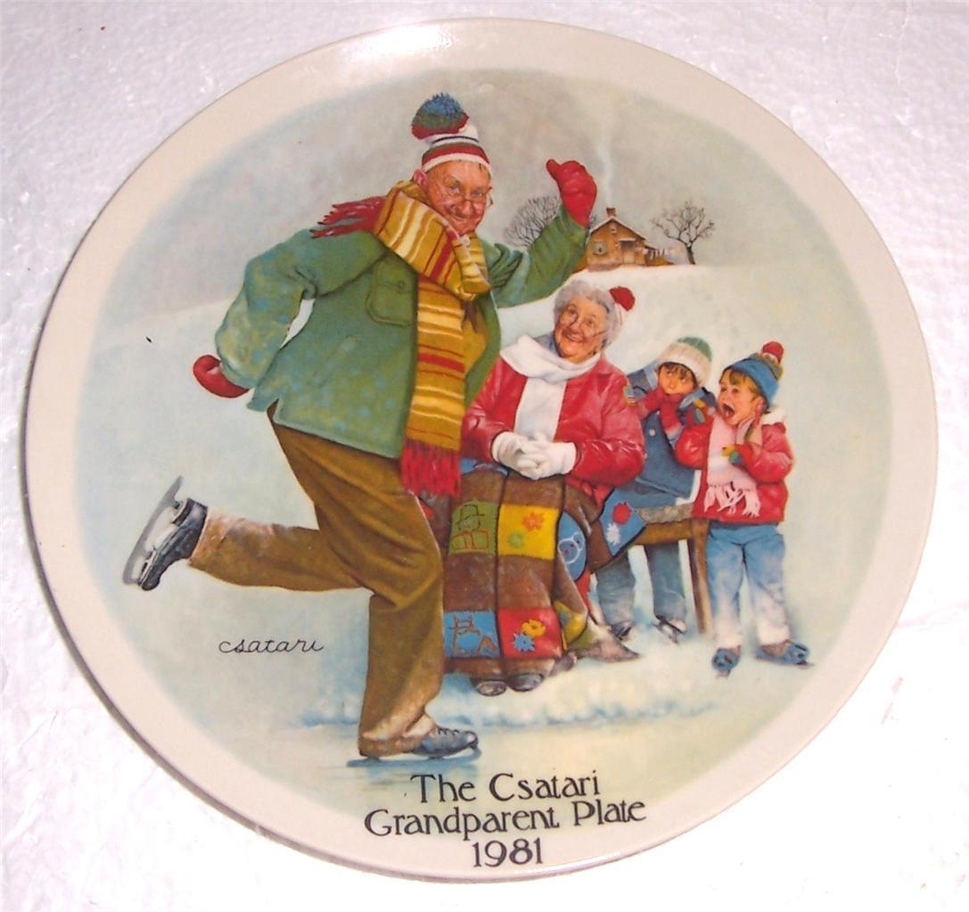 """""""The Skating Lesson"""" Grandparent Collectible Plate Norman Rockwell by Csatari - $80.49"""