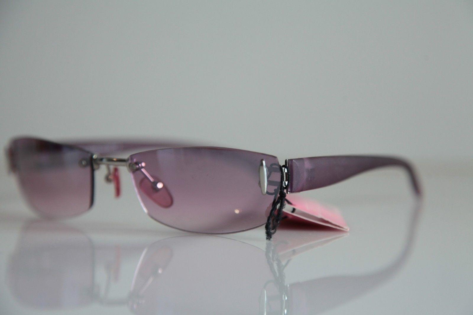 Rimless frame, Chrome, Smoke Purple , Purple lenses by ...