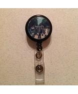 Beatles Abbey Road Badge Reel Id Holder Alligator clip New Handmade Blac... - $6.95