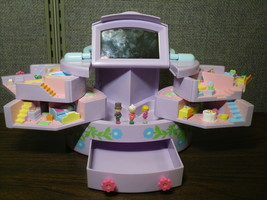 Polly Pocket Pullout Playhouse Jewelry Box Playset with 3 Dolls Bluebird... - $38.70