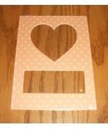 Heart peach pindot double mat opening 5x7 frami... - $1.25
