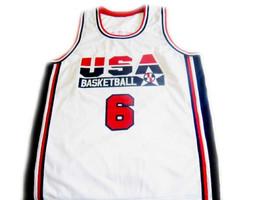 Patrick Ewing #6 Team Usa Basketball Jersey White Any Size image 1