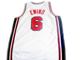 Patrick Ewing #6 Team Usa Basketball Jersey White Any Size image 2