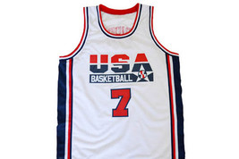 Larry Bird #7 Team USA Men Basketball Jersey White Any Size image 1