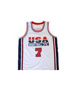 Larry Bird #7 Team USA Men Basketball Jersey White Any Size - $34.99