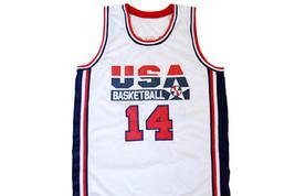 Charles Barkley #14 Team USA Men Basketball Jersey White Any Size image 1