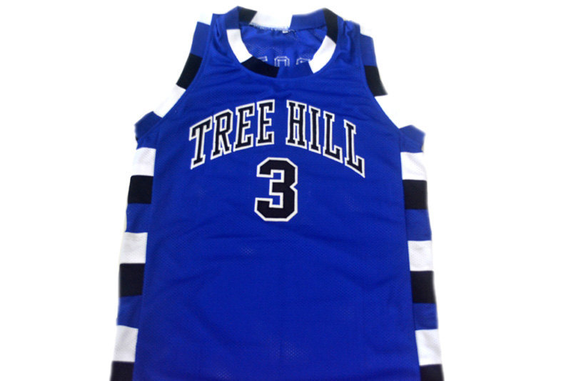 Lucas Scott #3 One Tree Hill Movie Basketball Jersey Blue Any Size