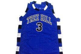Lucas Scott #3 One Tree Hill Movie Basketball Jersey Blue Any Size image 1