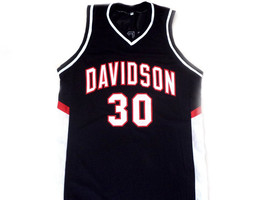 Stephen Curry #30 Davidson College Wildcats Basketball Jersey Black Any Size image 1