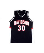 Stephen Curry #30 Davidson College Wildcats Basketball Jersey Black Any ... - $34.99