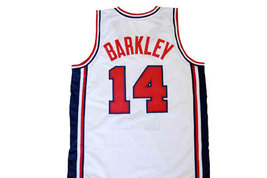 Charles Barkley #14 Team USA Men Basketball Jersey White Any Size image 2