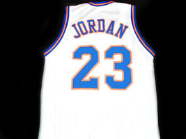 Michael Jordan #23 Tune Squad Space Jam Basketball Jersey White Any Size image 3
