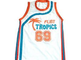 Downtown #69 Flint Tropics Semi Pro Movie Basketball Jersey White Any Size image 1
