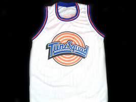 Daffy Duck #2 Tune Squad Space Jam Basketball Jersey White Any Size image 2