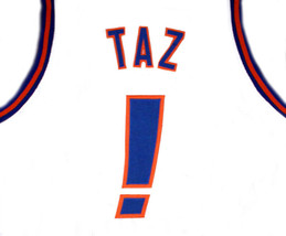 Taz ! Tune Squad Space Jam Basketball Jersey White Any Size image 2