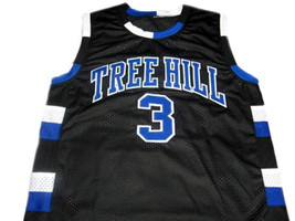Lucas Scott #3 One Tree Hill Movie Men Basketball Jersey Black Any Size image 1