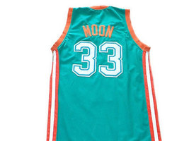 Jackie Moon #33 Flint Tropics Semi Pro Basketball Jersey Teal Green Any Size image 2