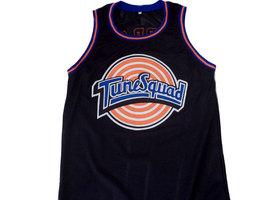 Michael Jordan #23 Tune Squad Space Jam Basketball Jersey Black Any Size image 1
