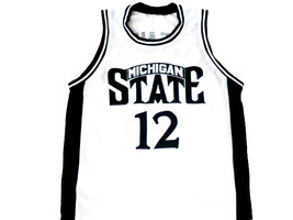 Mateen Cleaves #12 Michigan State Basketball Jersey White Any Size  image 1