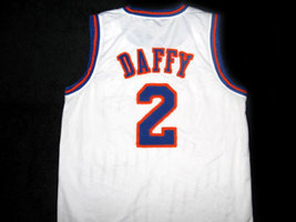 Daffy Duck #2 Tune Squad Space Jam Basketball Jersey White Any Size image 4