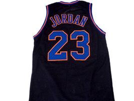 Michael Jordan #23 Tune Squad Space Jam Basketball Jersey Black Any Size image 2