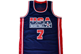 Larry Bird  #7 Team USA Basketball Jersey Navy Blue Any Size image 1