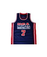 Larry Bird  #7 Team USA Basketball Jersey Navy Blue Any Size - $34.99