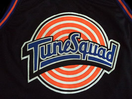 Michael Jordan #23 Tune Squad Space Jam Basketball Jersey Black Any Size image 5
