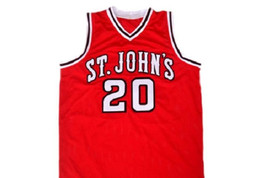 Chris Mullin #20 St John's University Men Basketball Jersey Red Any Size image 1