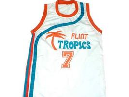 Coffee Black #7 Flint Tropics Semi Pro Movie Basketball Jersey White Any Size image 1