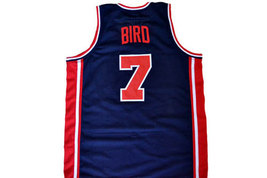 Larry Bird  #7 Team USA Basketball Jersey Navy Blue Any Size image 2