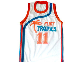 Ed Monix #11 Flint Tropics Semi Pro Movie Basketball Jersey White Any Size image 1